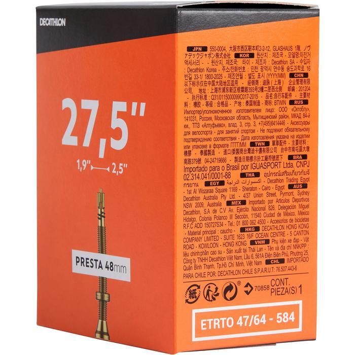 Fahrradschlauch 27,5 Zoll × 1,9/2,5 französisches Ventil 48mm