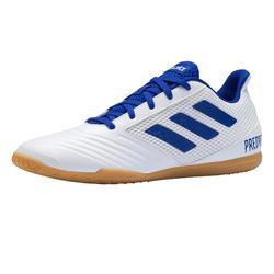 Zaalvoetbalschoenen Predator Tango 19.4 wit/blauw
