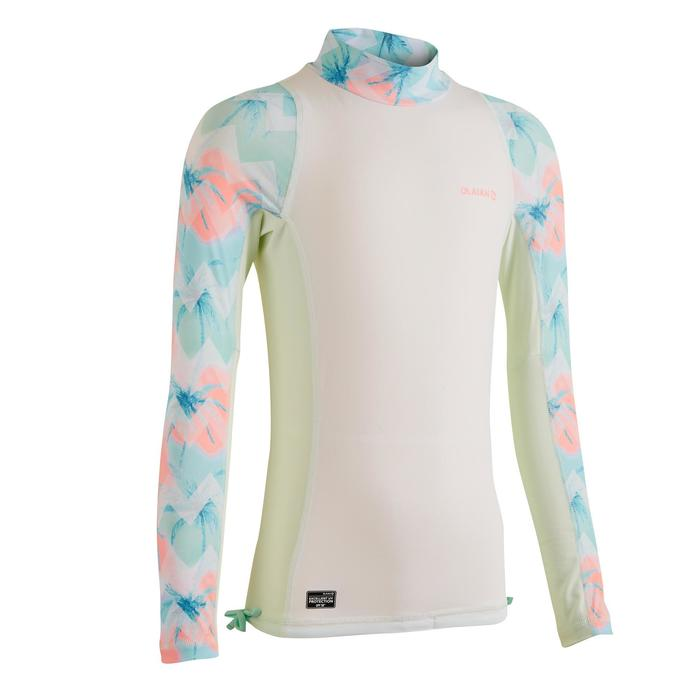tee shirt anti uv surf top 500 manches longues fille