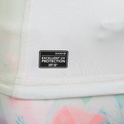 兒童款女童抗UV上衣500L-白色