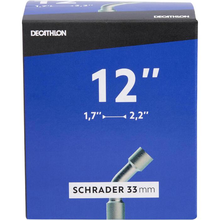 """Binnenband 12"""" doorsnede 1.7 tot 2.2 haaks Schrader-ventiel"""