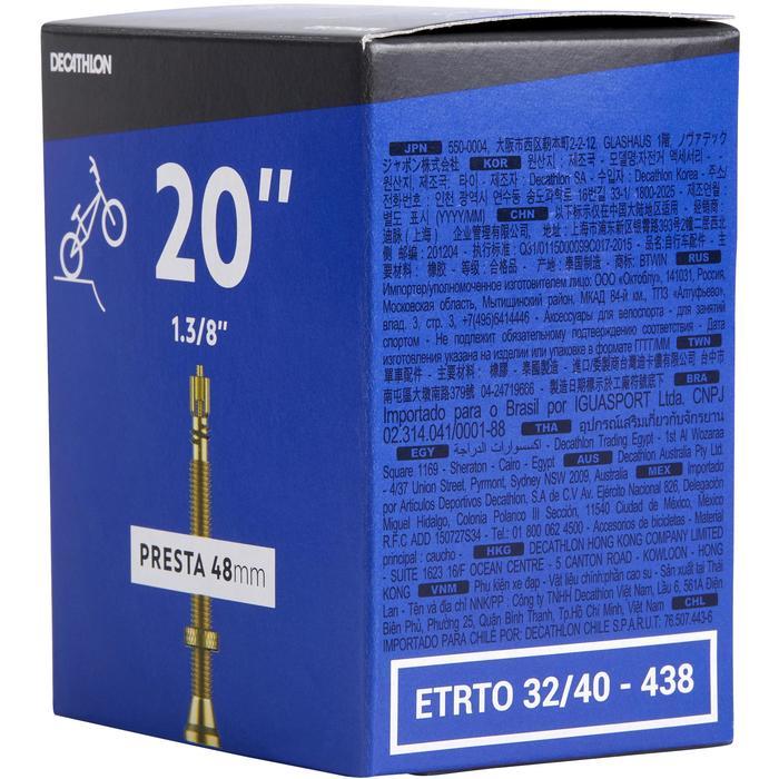 """CÁMARA DE AIRE BMX 20""""x1,3/8 VÁLVULA PRESTA/ ETRTO 32-40/438-451"""