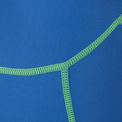 男童款連身泳裝100-藍綠色