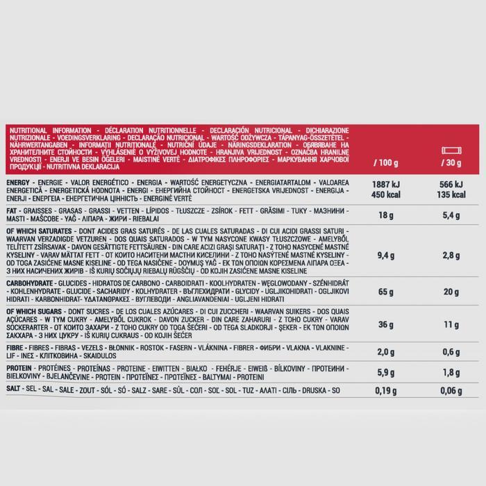 Barrita de cereales con cobertura de chocolate blanco y frutos rojos 6 x 30 g