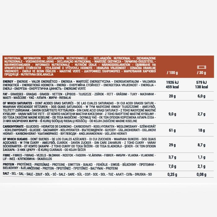 Barre de céréales enrobée Chocolat Noisettes 6 x 30 g
