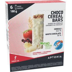 Graanreep witte chocolade/rode vruchten 6 x 30 g