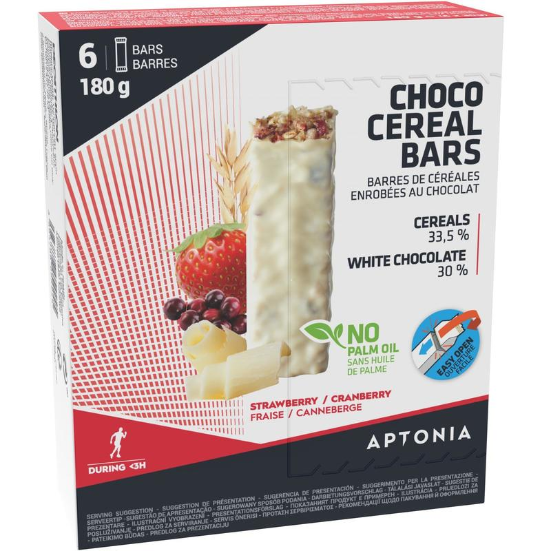 Barre de céréales enrobée Chocolat Blanc Fruits Rouges 6 x 30g