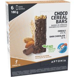 Graanrepen pure chocolade/amandel/pinda 6 x 30 g