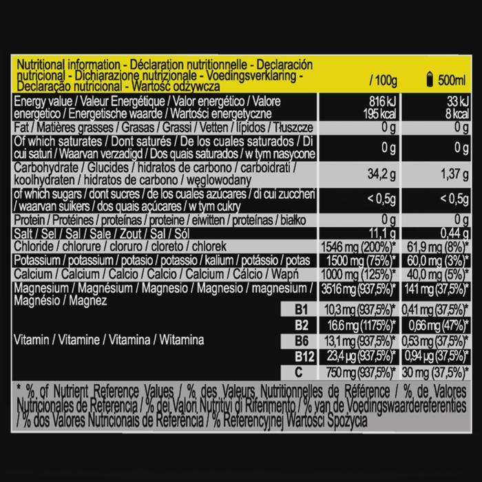 Tablettes électrolytes Citron ECOSIZE 40 x 4 g