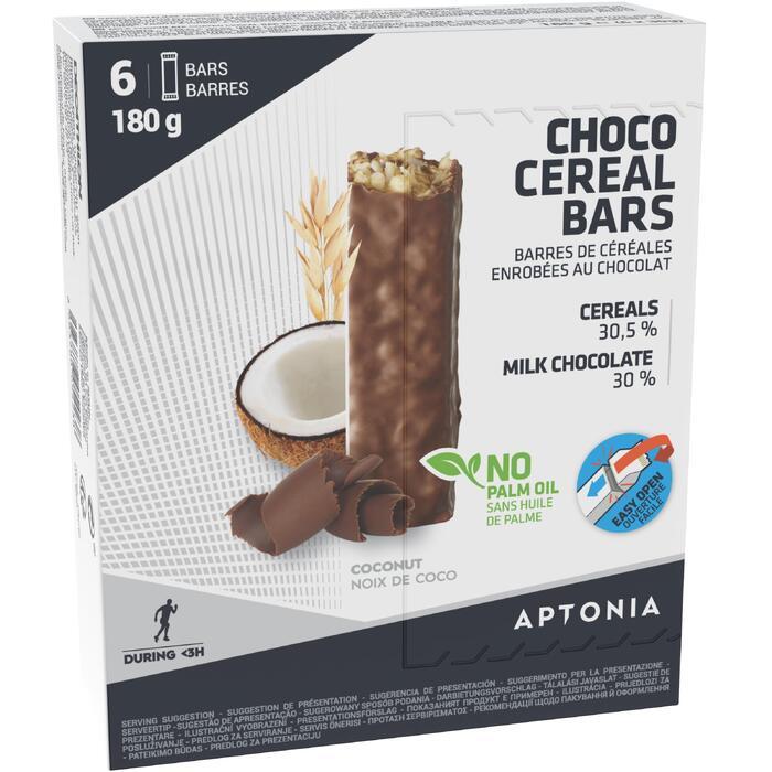 Barrita de cereales con cobertura de chocolate y coco 6 x 30 g