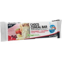 Barre de céréales enrobée chocolat blanc fruits rouges 30 g