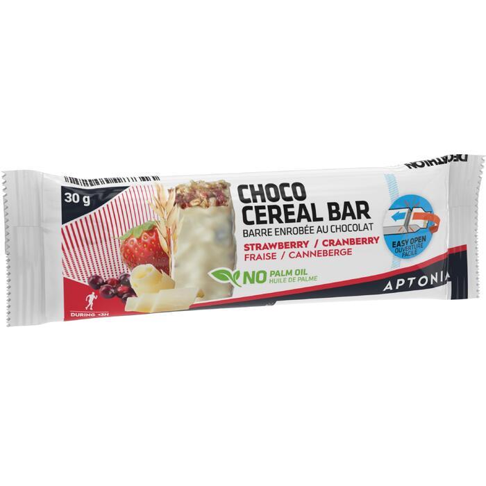 Barrita de cereales con cobertura de chocolate blanco y frutos rojos 30 g