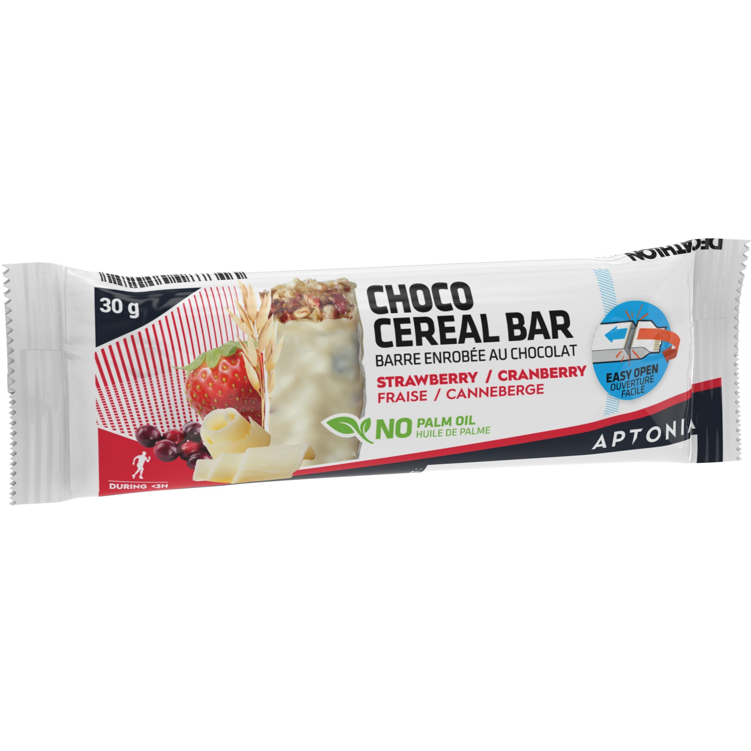 Müsliriegel mit weißem Schokoladenüberzug rote Früchte 30 g