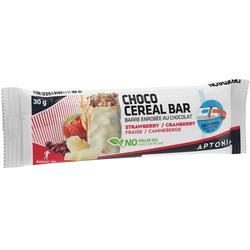 Müsliriegel mit weißem Schokoladenüberzug rote Früchte 30g