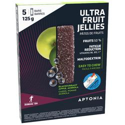 Fruit jellies Ultra zwarte bes appel acerola 5x 25 g