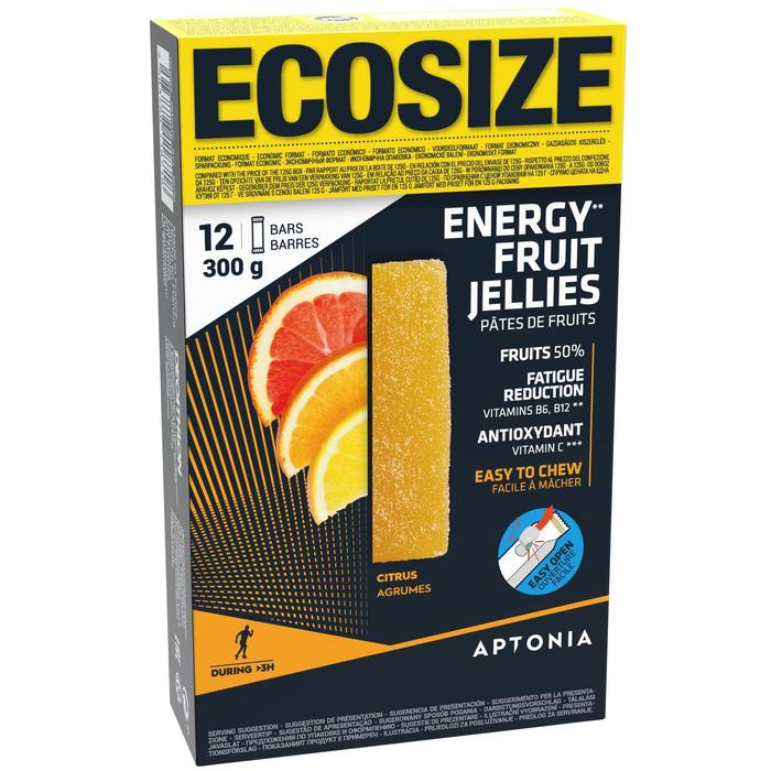 Pâte de fruits énergétique ECOSIZE Agrumes acerola 12x25g