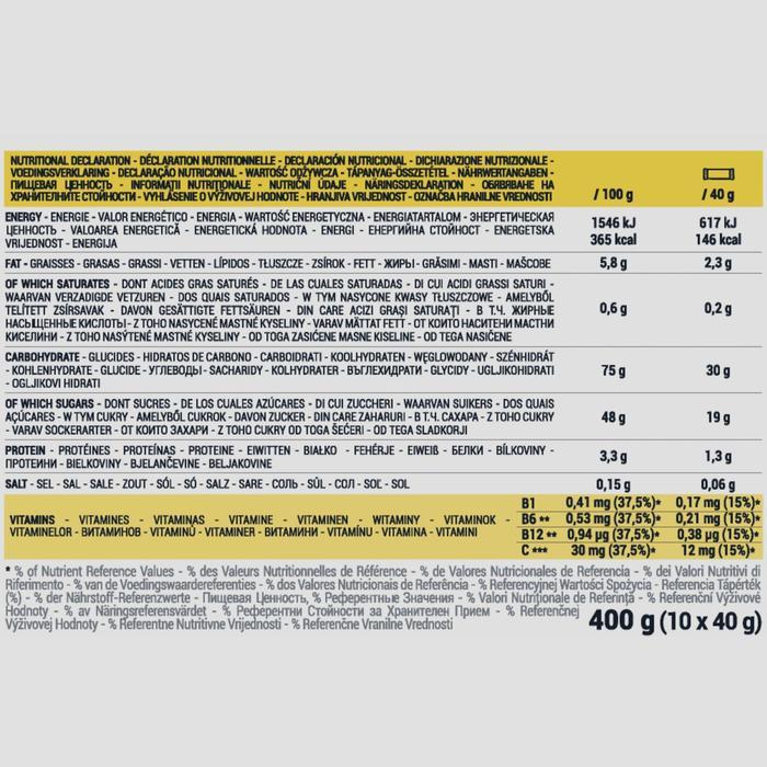 Energy-Riegel mit Datteln und Banane Ecosize 10 × 40g