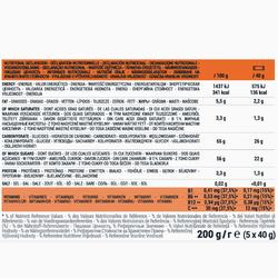 Energieriegel aus Datteln, Orangen und Schokolade 5 × 40 g