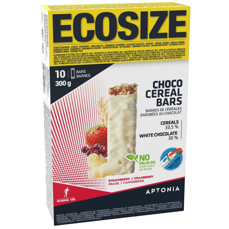 Eco-Size Coated Cereal Bar 10 X 30 g - chocolate red fruit