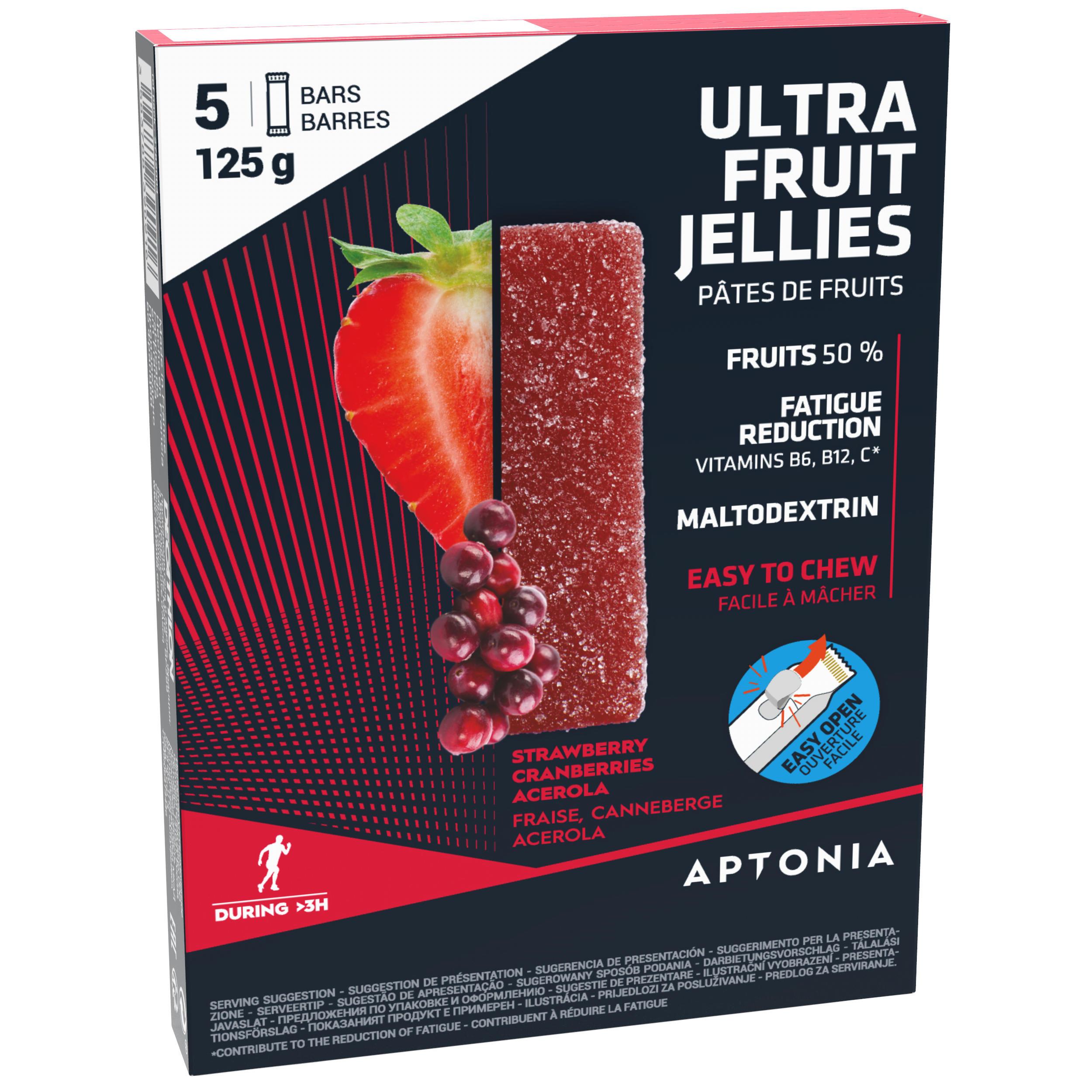 Aptonia Jellybars Ultra aardbei-cranberry-acerola 5x25g