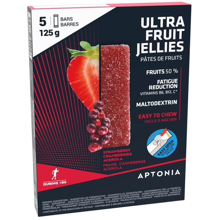 Pâte de fruits ULTRA fraise cranberries acerola 5x25g