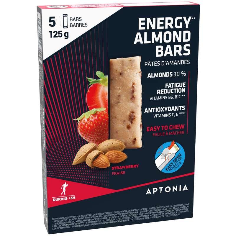 BARRAS, GÉIS& PÓS-ESFORÇO Hidratação e Alimentação - Pasta de Amêndoa Morango 5x25g APTONIA - Esforço Superior a 3 Horas