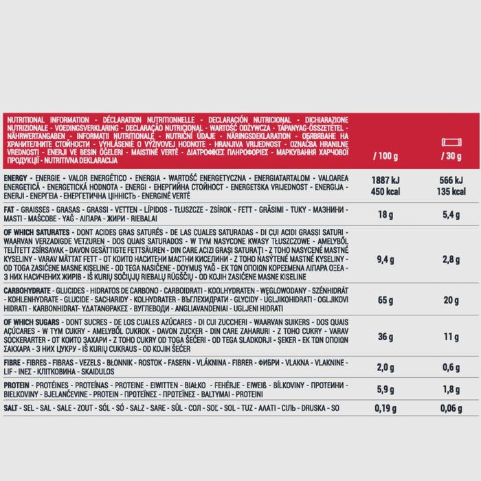 Barre de céréales enrobée ECOSIZE au goût chocolat fruits rouges 10 x 30 g