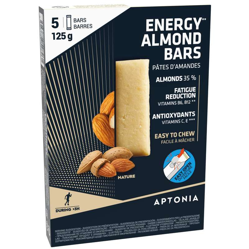 BARS, GELS & AFTER Triathlon - ALMOND BAR 5X25 G PLAIN APTONIA - Triathlon