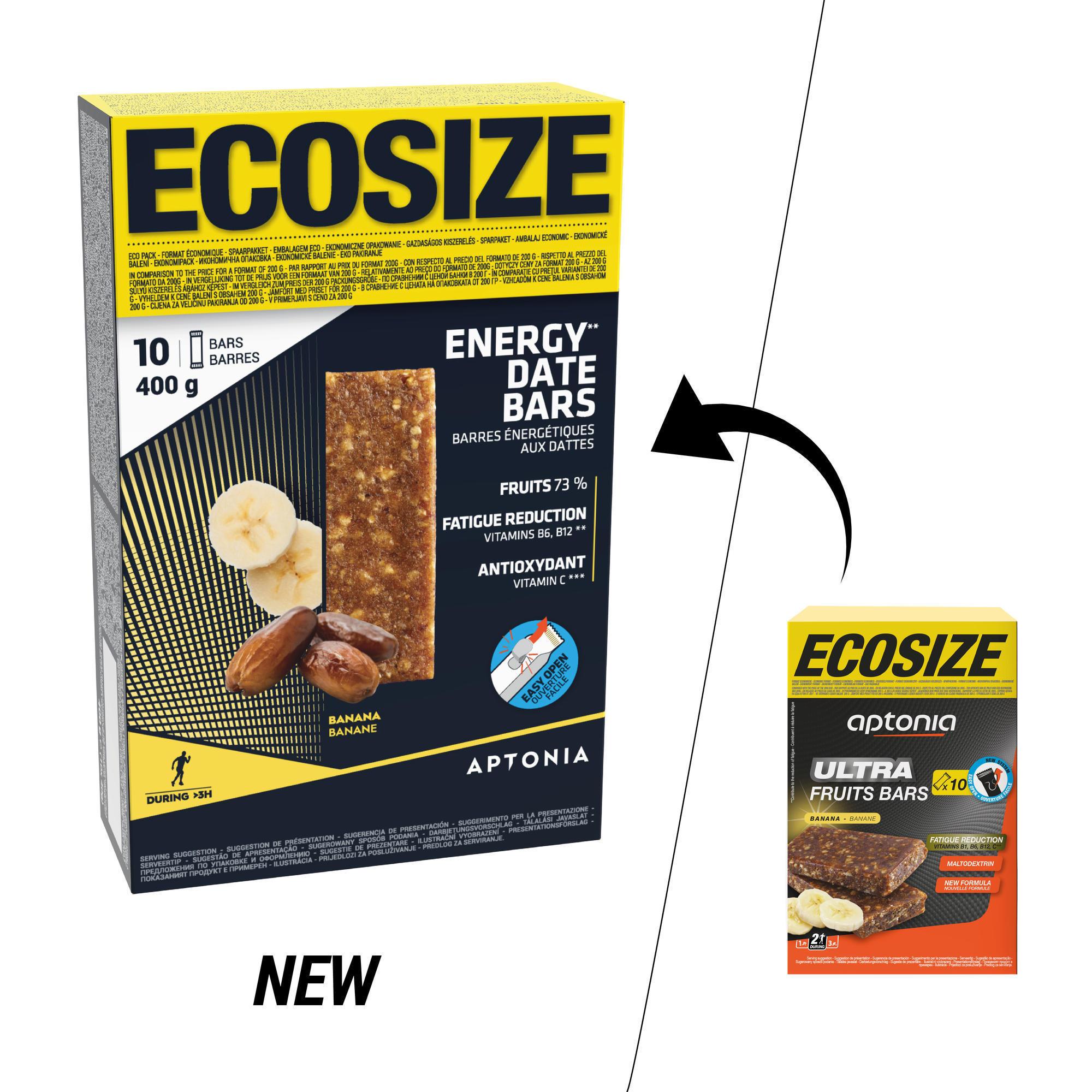 Energy-Riegel mit Datteln und Banane Ecosize 10 × 40 g