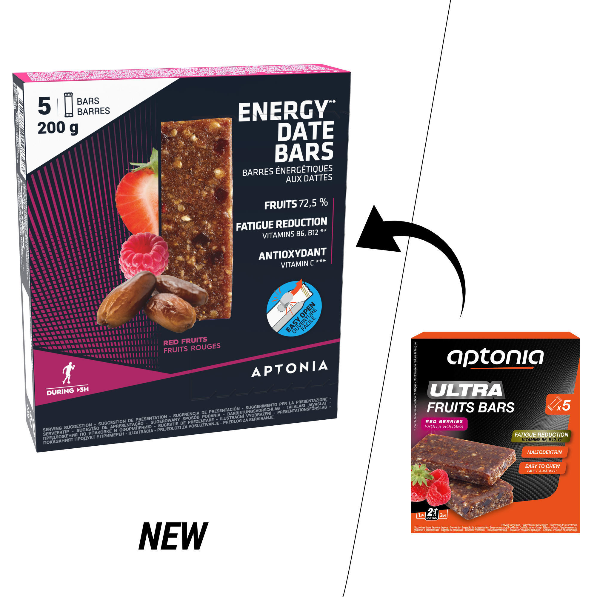 Aptonia Energiereep met dadels en rode vruchten 5 x 40 g
