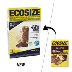 Barre de céréales enrobée ECOSIZE au goût chocolat banane 10 x 30 g