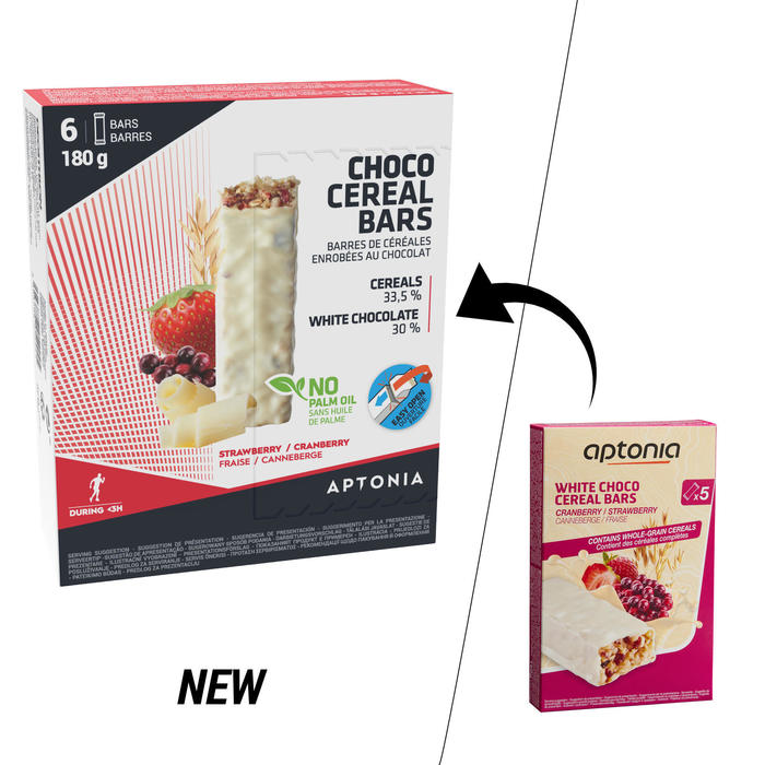Barrita Cereales Triatlón Aptonia Cobertura Chocolate Blanco Frutos Rojos 6 X