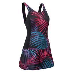 女款連身裙泳裝Vega - 黑色
