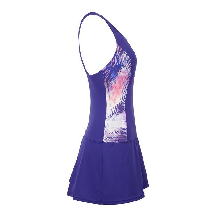 Women's one-piece swimsuit skirt Vega Ref purple