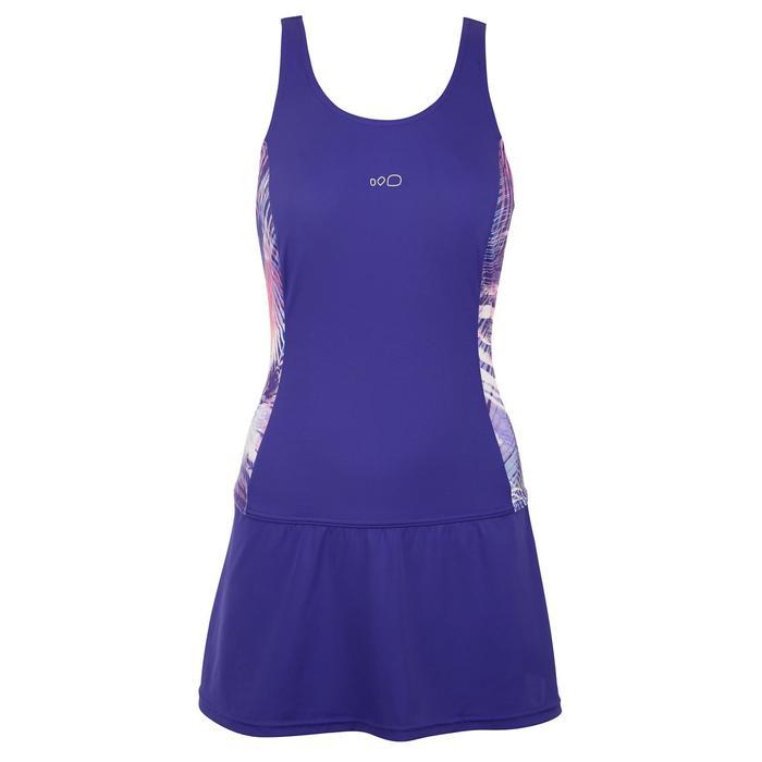 女款連身裙泳裝Vega-紫色