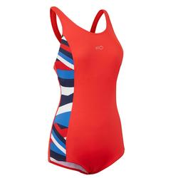 Vega Women's One Piece Swimsuit Cros Red
