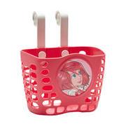 Rožnat kolesarski prtljažnik za otroke