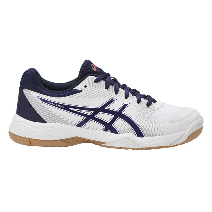 Dames volleybalschoenen Gel Task wit en blauw Asics