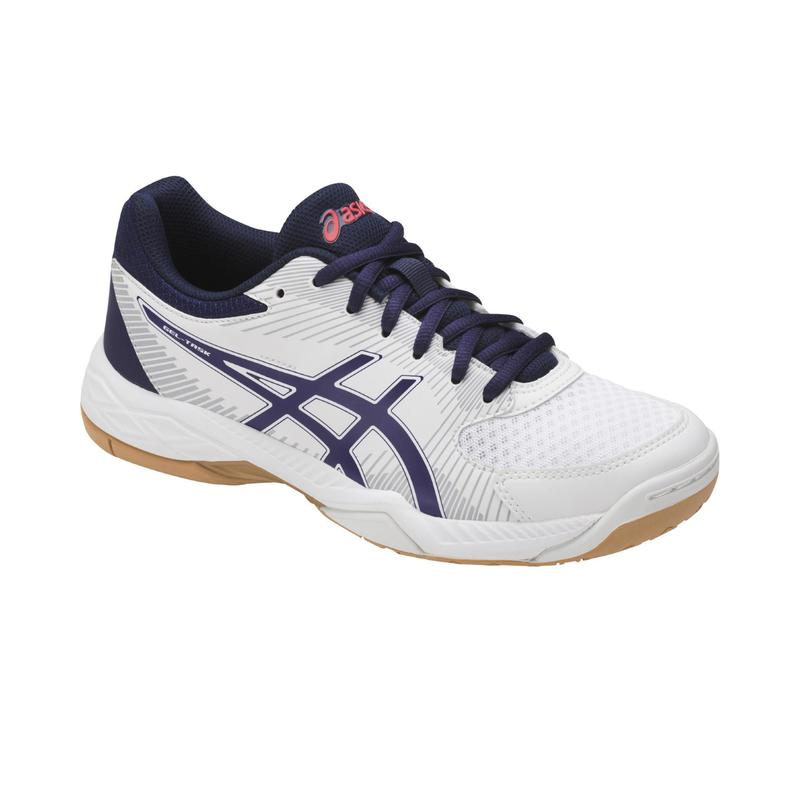 Gel Task Women's Volleyball Shoes - White/Blue