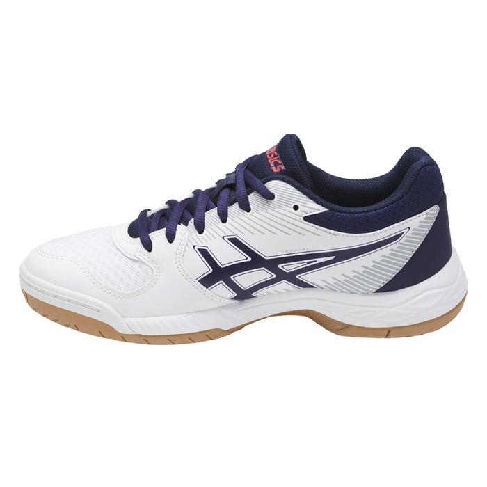 Chaussures de volley-ball femme Gel Task blanches et bleues Asics