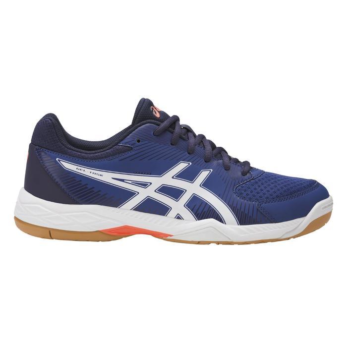 Heren volleybalschoenen Gel Task wit en blauw Asics