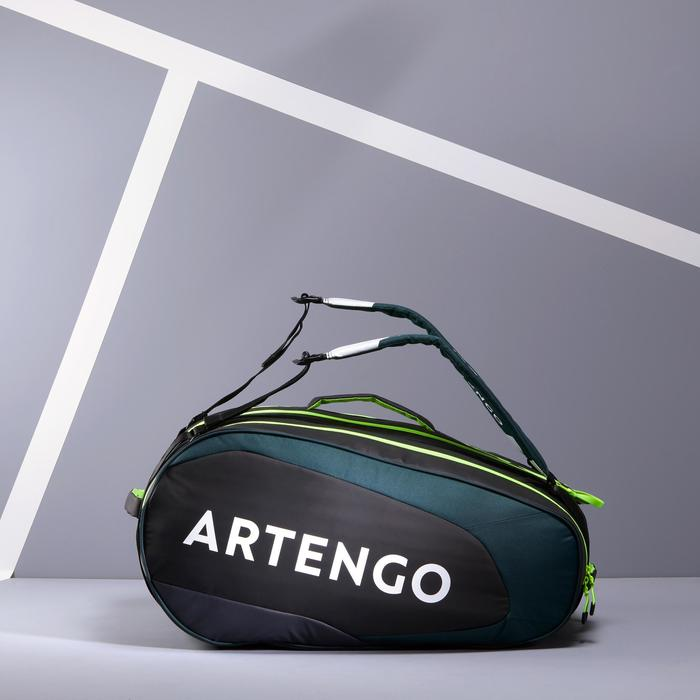 Tas voor racketsporten Artengo 530 S zwart en kaki