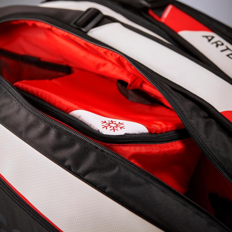 Sac Sports De Raquettes Artengo 960 L Noir Blanc Rouge