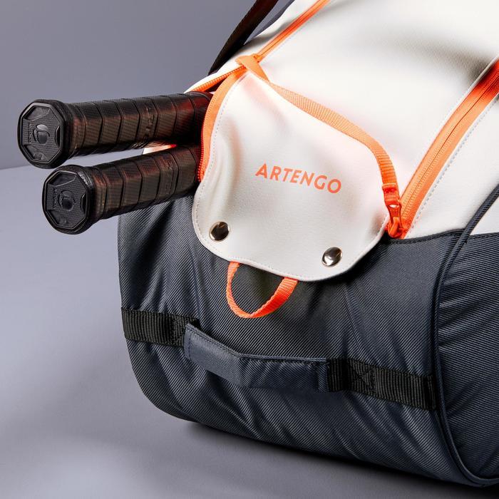 網球袋500 S-灰色/白色/珊瑚色