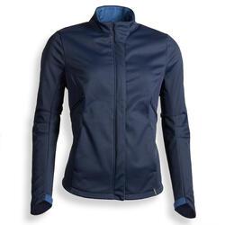 Chaqueta de equitación 500 SOFTSHELL mujer azul marino