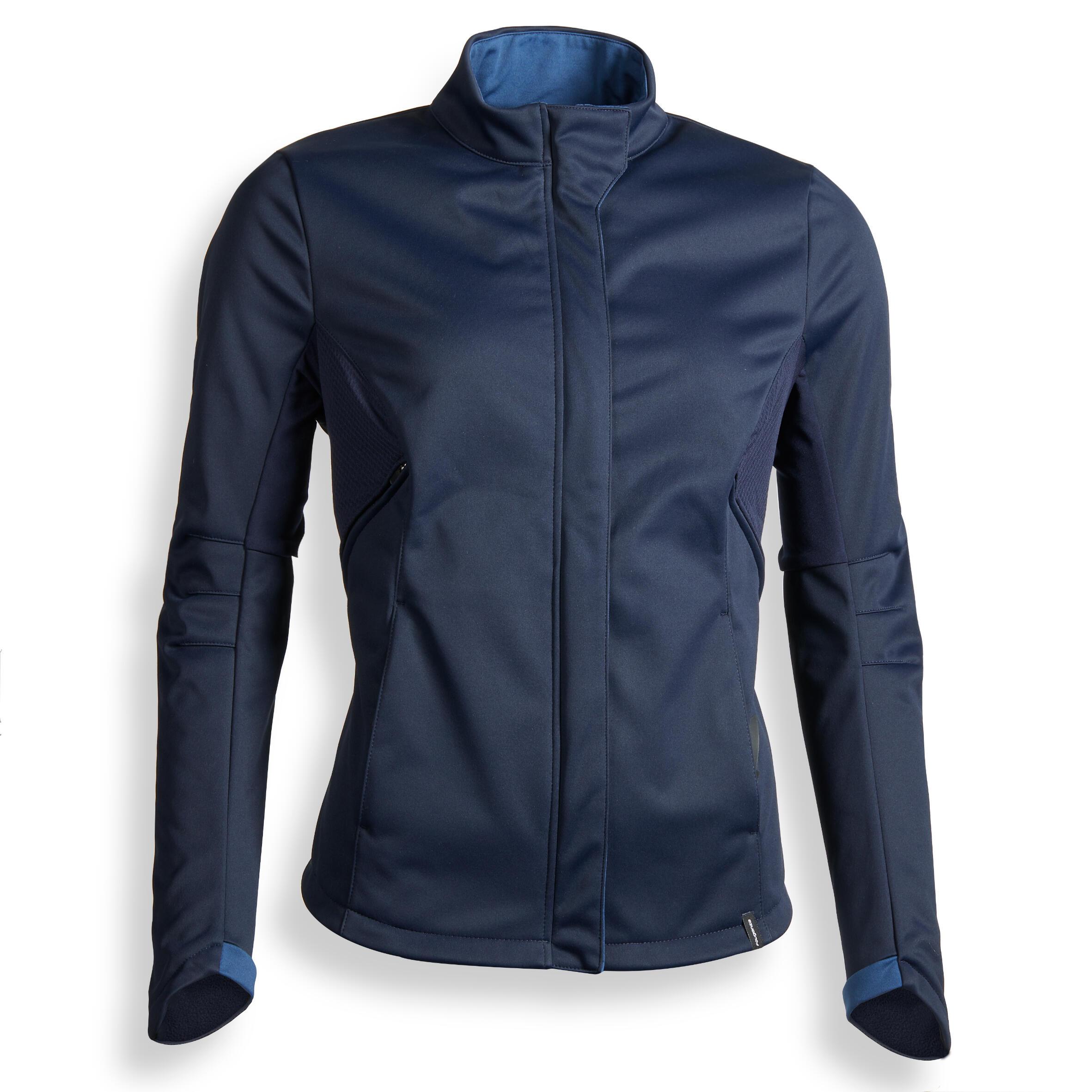 Reitjacke Softshelljacke 500 Damen marineblau | Bekleidung > Jacken | Fouganza