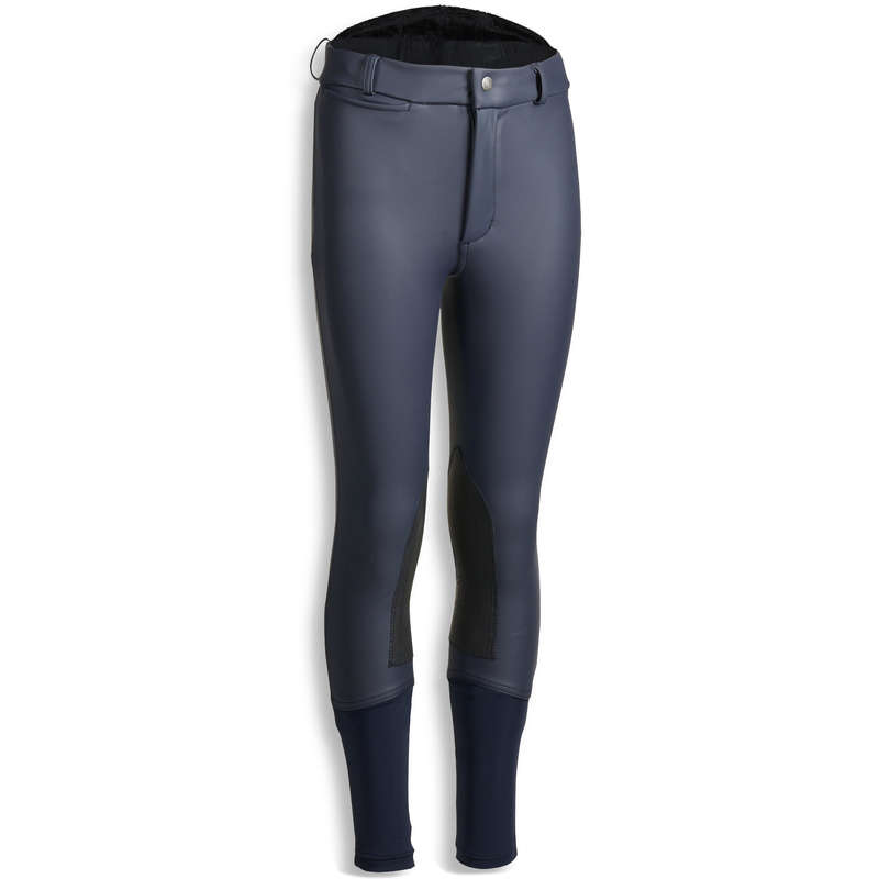 KID COLD WEATHER RIDING WEAR - Kipwarm Warm Jodhpurs - Navy FOUGANZA
