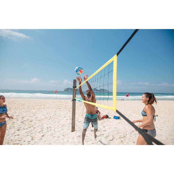 Volleybalnet / beachvolleybalnet BV100 Wiz Net, 4 meter breed geel