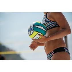 Ballon de beach-volley BV100 jaune et vert