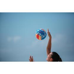 Bal voor beachvolley BVBS 100 blauw/roze